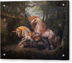 Forest Unicorns Acrylic Print