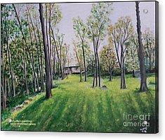 Forest View Acrylic Print by Usha Rai
