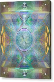 Forested Chalice In The Flower Of Life And Vortexes Acrylic Print