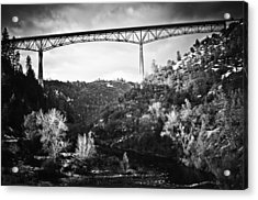 Foresthill Bridge In The Snow 2 Acrylic Print