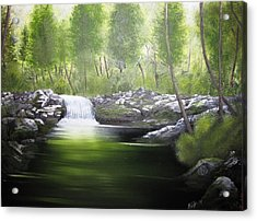 Acrylic Print featuring the painting Forever Green by Kevin F Heuman
