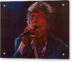 Forever Mick Acrylic Print by Debbie Patrick