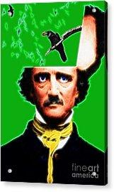 Forevermore - Edgar Allan Poe - Green - Standard Size Acrylic Print