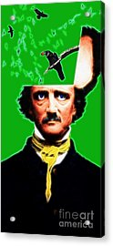 Forevermore - Edgar Allan Poe - Green Acrylic Print by Wingsdomain Art and Photography