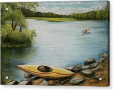 Acrylic Print featuring the painting Forge Pond by Melinda Saminski