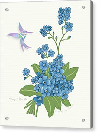 Forget Me Not Flower Acrylic Print by Gayle Odsather