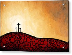 Forgiven - Christian Art By Sharon Cummings Acrylic Print by Sharon Cummings