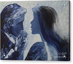 Forgiveness Kiss Acrylic Print by Roni Ruth Palmer