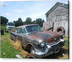 Forgotten Cadillac Acrylic Print by James Guentner