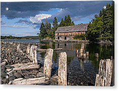 Forgotten Downeast Smokehouse Acrylic Print by Marty Saccone