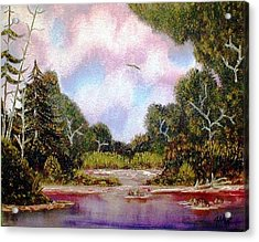 Acrylic Print featuring the painting Forgotten Inlet by The GYPSY And DEBBIE