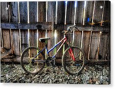 Forgotten Replaced By New Set Of Wheels Acrylic Print by Dan Friend