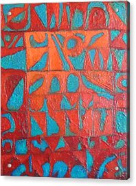 Forgotten Runes Of Ljung Acrylic Print