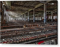 Forgotten Silk Mill Acrylic Print by Susan Candelario