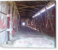 Acrylic Print featuring the photograph Forgotten Tunnel by Fortunate Findings Shirley Dickerson