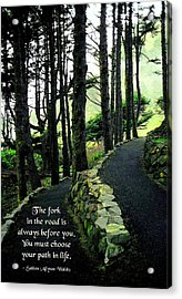 Fork In The Road Acrylic Print by Mike Flynn