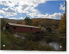 Forksville Covered Bridge Acrylic Print by Elsa Marie Santoro