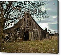 Forlorn Barn Acrylic Print by Greg Jackson