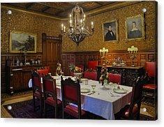 Formal Dining Room Acrylic Print by Susan Candelario