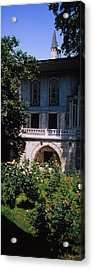 Formal Garden In Front Of A Building Acrylic Print by Panoramic Images