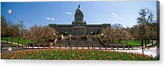 Formal Garden Outside State Capitol Acrylic Print by Panoramic Images