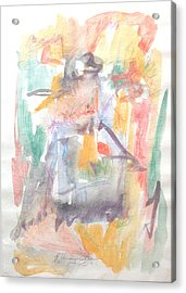 Acrylic Print featuring the painting Formal Signature by Esther Newman-Cohen