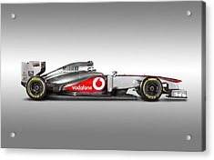 Formula 1 Mclaren Mp4-28 2013 Acrylic Print by Gianfranco Weiss
