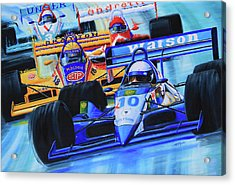 Formula 1 Race Acrylic Print by Hanne Lore Koehler
