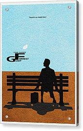 Forrest Gump Acrylic Print by Ayse Deniz