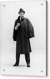 Forrest Tucker Wearing A Tweed Coat Acrylic Print by Leonard Nones
