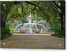 Forsyth Fountain Acrylic Print