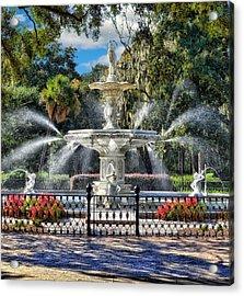 Forsyth Park Fountain Acrylic Print
