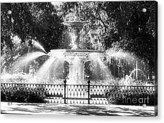Forsyth Park Fountain Acrylic Print by John Rizzuto