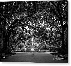 Forsyth Park Acrylic Print by Perry Webster
