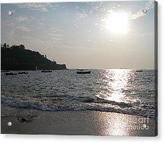 Fort Aguada Beach Acrylic Print by Mini Arora