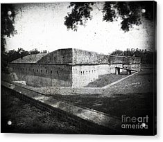 Fort Barrancas Faux Civil War Era Photograph Acrylic Print by Tom Brickhouse
