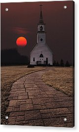Fort Belmont Sunset Acrylic Print by Aaron J Groen