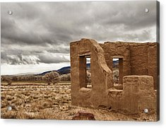 Acrylic Print featuring the photograph Fort Churchill Nevada by Janis Knight
