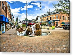 Fort Collins Fountain Acrylic Print