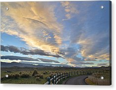 Fort Collins Sunset Acrylic Print by Ray Mathis
