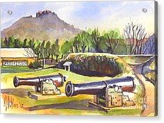 Fort Davidson Cannon II Acrylic Print by Kip DeVore