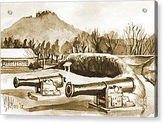 Fort Davidson Cannon Iv Acrylic Print by Kip DeVore