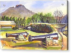 Fort Davidson Cannon Acrylic Print by Kip DeVore