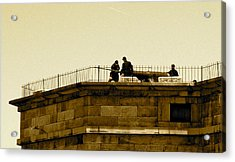 Fort Delaware Cleaning Crew Acrylic Print by Amazing Photographs AKA Christian Wilson