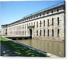 Fort Delaware Sally Port Entrance Acrylic Print by Pamela Hyde Wilson