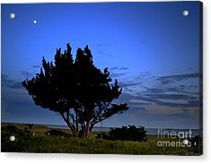 Fort Fisher Moonrise  Acrylic Print