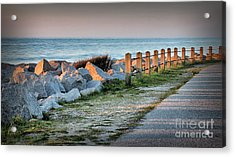 Fort Fisher Rocks At  Sunrise Acrylic Print
