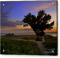 Fort Fisher Sunset  Acrylic Print