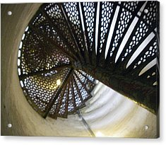 Fort Gratiot Lighthouse Staircase Acrylic Print by Cynthia Hilliard