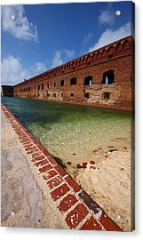 Fort Jefferson At Dry Tortugas National Park Acrylic Print by Jetson Nguyen